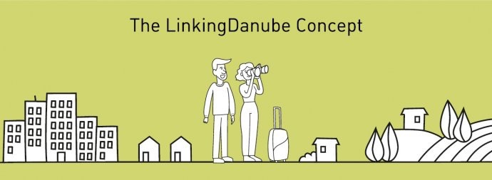 Danny Danube and his girlfriend, the two mascots of Linking Danube